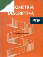 Geometría descriptiva- compendio de geometría descriptiva para técnicos Escrito por B. Leighton Wellman-Leighton Wellman. B.