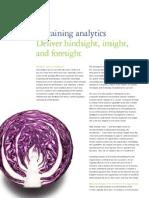 sustaining analytics