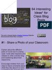64 Interesting Ideas for Class Blog Posts