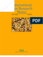 International Rice Research Notes Vol.19 No.4