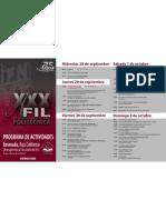 Programa FIL 2011