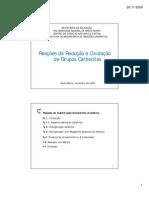 Redução e Oxidação de Grupos Carbonilas (impressão) [Modo de Compatibilidade]