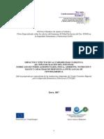 Informe del I Foro Especializado sobre los efectos del niño  Oscilacion del Sur- ENOS en la SAN