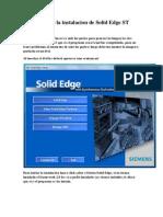 Tutorial Para La Instalacion de Solid Edge ST