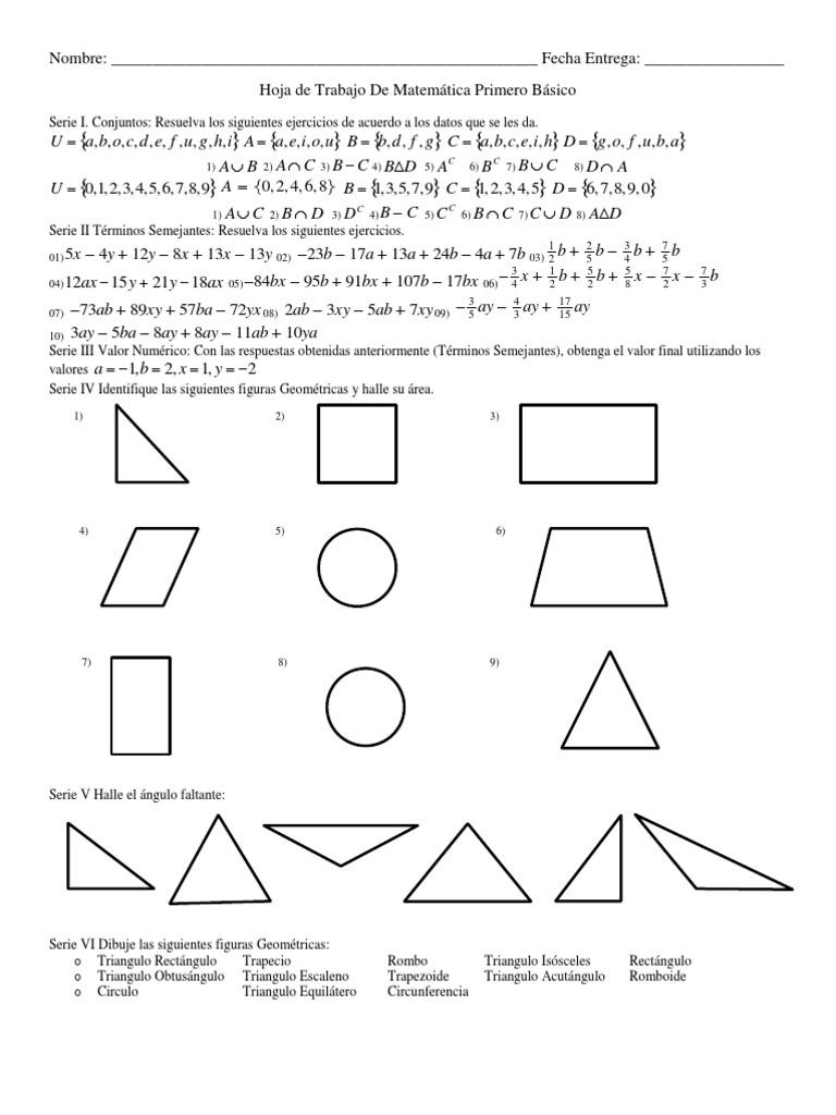 Lujo ángulos De GeometrÃa Hoja Faltante Imágenes - hojas de trabajo ...