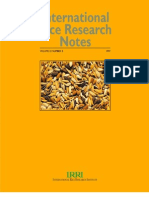 International Rice Research Notes Vol.22 No.3
