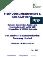 Microsoft Word - Fiber Optic Infrastructure & Site Civil Works v-2