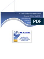 MABA Conference 2009