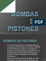 Bombas de Pistones