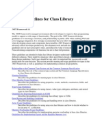 Design Guidelines for Class Library Developers