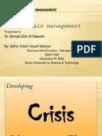 Crisis Mgt