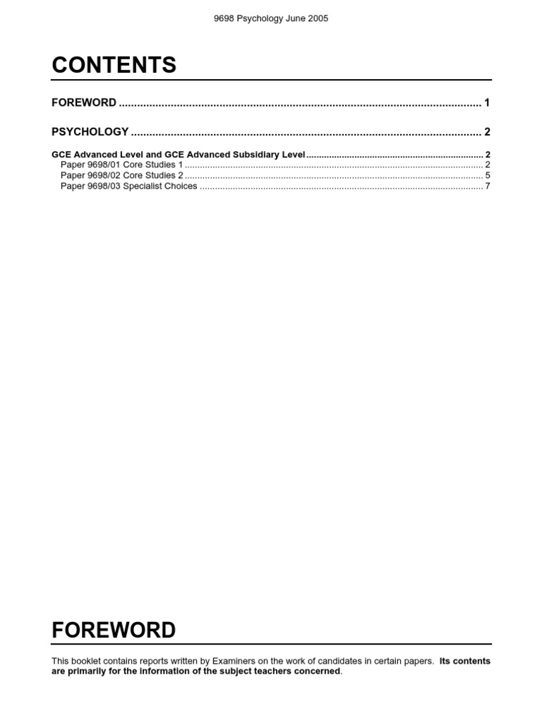 psychology 9698 9698 psychology 9698/03 paper 3 maximum raw mark 70 this mark scheme is published as an aid to teachers and students, to indicate the requirements of the.