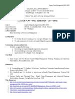 Supply Chain Management(MEC6009) - Course Plan
