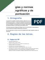 Reglas y normas ortográficas y de puntuación