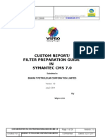 Filter and Report Formation Handover Doc