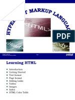 Training HTML