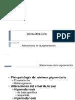 Alteraciones de la pigmentación