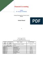 Financial Accounting PAA198 Student Manual