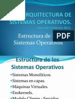 Estructura de Los Sistemas Operativos - Arquitectura de Sistemas Operativos