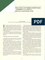 Warren, Ilse. Organizações não-Governamentais Na América Latina..