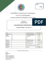 Lab 3 Sheet Refrigeration Unit - 25 Sep 11