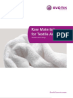 Brochure Raw Materials for Textile Auxiliaries