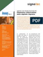 Knauf_Papierlose Lieferscheine Dank Digitaler Signatur