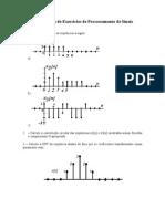 PDS - Quarta Lista de Exercícios de Process Amen To de Sinais~1