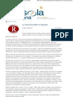 Marco Respinti, «La moda della Pubblicità Regresso», in «La Bussola Quotidiana», Milano, 13-09-2011