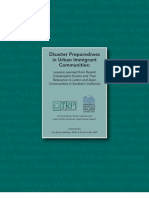 Disaster Preparedness in Urban Immigrant Communities: