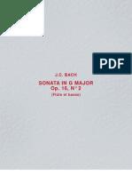 J.C. Bach- Sonata in G Major, Op. 16 No. 2 Flute & Piano