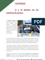 Desguace y el destino de las baterías de plomo