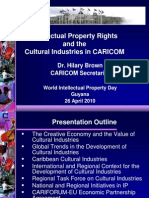 Intellectual Property Rights Cultural Industries Caricom Brown