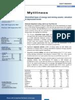 MYTIL Update Report Sept 2011 Final