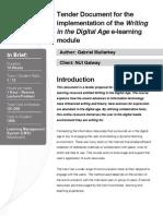 E-learning Tender Document