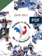Présentation des Equipes de Fédération Française de Ski 2010-2011