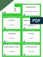 Français familier cards