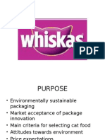 Whiskas Cat Food Market Research, Analysis & Recommendations