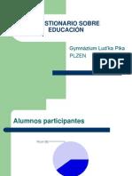 Cuestionario de educación (Pilsen)