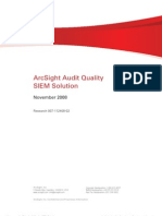 ArcSight Audit Quality SIEM Solution