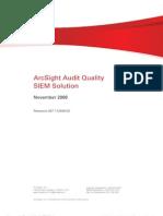 ArcSight Audit Quality SIEM Solution