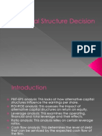 Capital Structure Decision