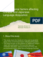 Environmental factors affecting chinese and Japanese language Acq