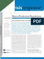 Macro Prudential Regulation