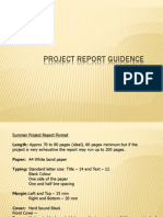 Standard Format of Project Report