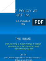 Debt Policy at Ust Inc