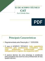 CAT-Certidão de Acervo Técnico