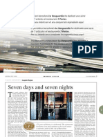 "Restaurant 7 Portes in ""La Vanguardia"" neswpaper"