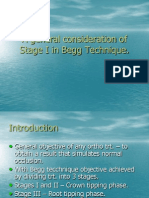 A general consideration of Stage I in Begg