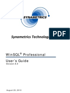 Win SQL Users Guide   Keyboard Shortcut   Databases